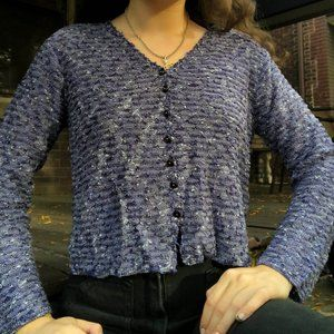 Indigo Blue Knit Cardigan